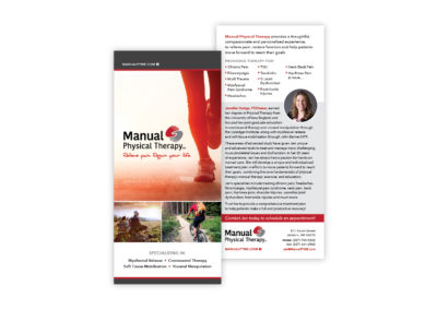 Manual Physical Therapy rack card