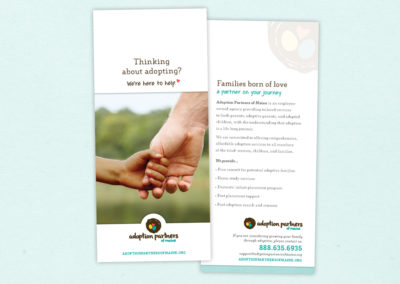 Adoption Partners rack card - adoptive family