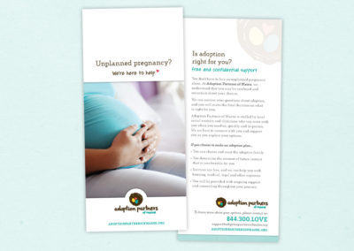 Adoption Partners rack card - birth family