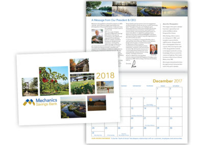 Mechanics Savings Bank 2018 calendar