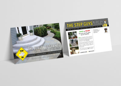 The Step Guys direct mail spec